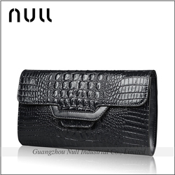 Embossed Crocodile Pattern Portable And Elegant Wholesale Leather Envelope Plain Clutch Bag