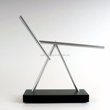 The Swinging Sticks Double Pendulum Kinetic Energy Perpetual Motion Illusion Art Toy Sculpture - Black