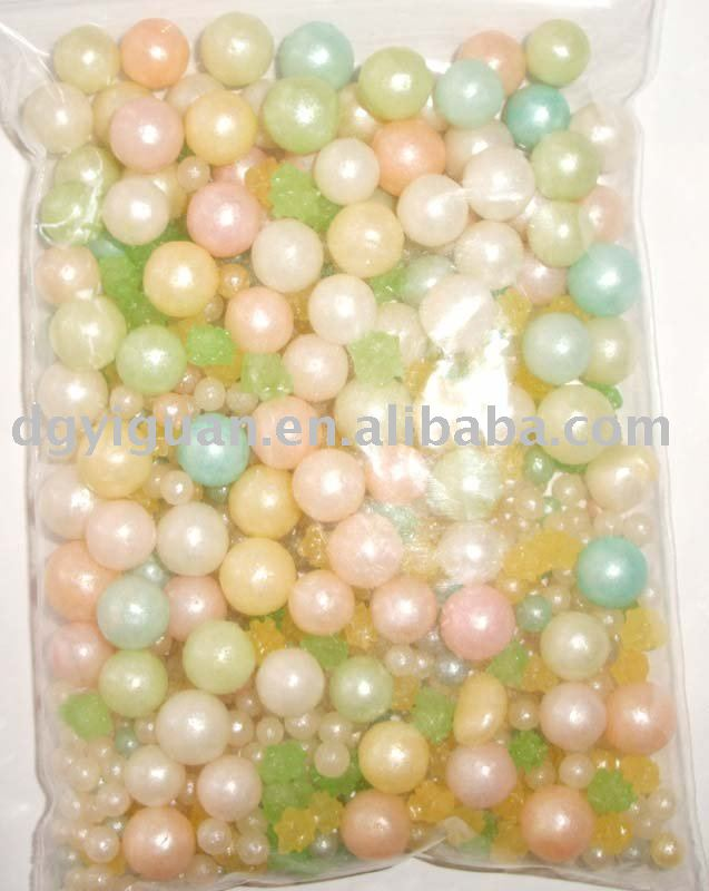 colorful pearl sugar