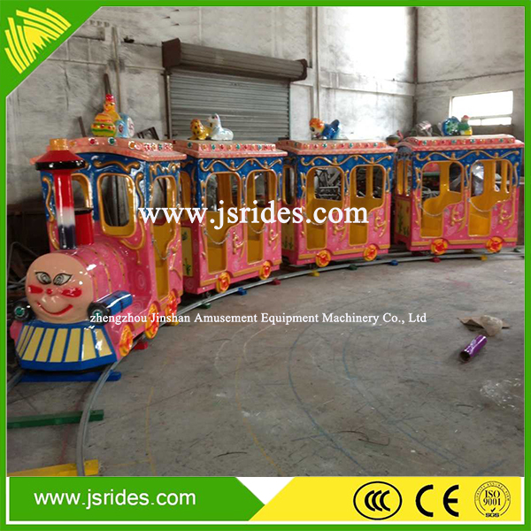 Customized cartoon model shopping mall train, kids electric train sets for sale