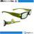 New stylish trend top quality personal black plastic double led light flashing granny reading glasses with case