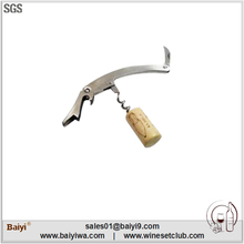 Stainless steel waiters friend folding knife opener with one hinge