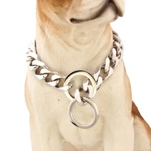 17mm 316L Luxury Stainless steel dog chain dog collar pet trainer collar