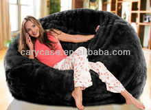 oversized bean bags,long fur black beanbag lounger,Soft and stylish UltraFur bean bag cover