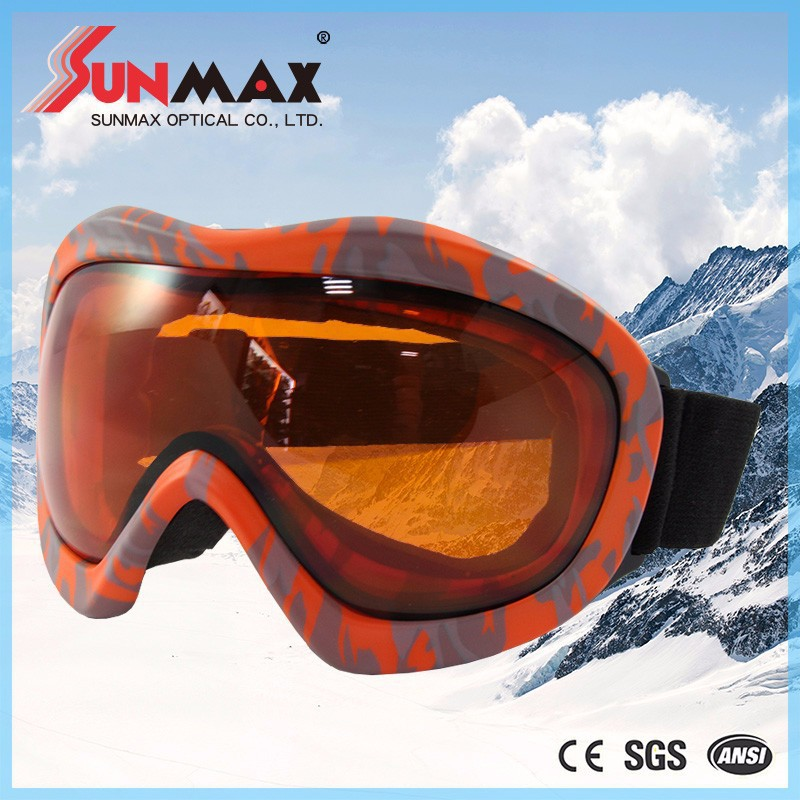 Professional goggles for ski sports replace strap skiing goggles kid ski goggles with anti fog