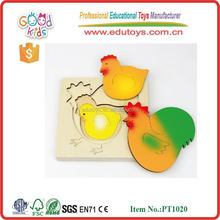 OEM Welcome Factory Direct Sale Chicken Growth Puzzle Wooden Handicrafts