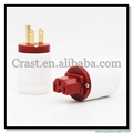 High performance Gold Plated US Plug +female IEC for power cable