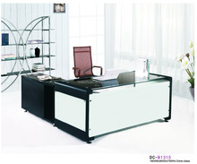 black glass office desk glass executive desk/table