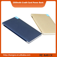 2016 card battery charger 3000mah super thin 1A current fast charging power bank