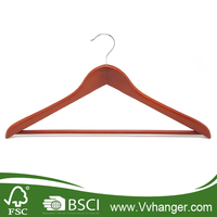 supply home use cheap clothes hangers with walnut color
