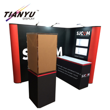 Customized 3D design portable portable pop up display stand.