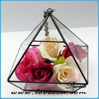 Sha-new product crystal terrarium ornament hanging blown glass apple