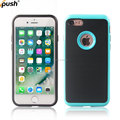 2017 New design 3 in 1 Brush case PC TPU back cover case For iphone7