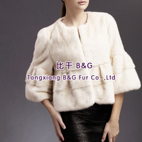 BG28912 Fashion Hot Sale Real Mink Fur Jacket Women winter clothing