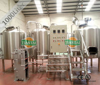 1000L turnkey microbrewery beer producing machine with CE and UL certificate