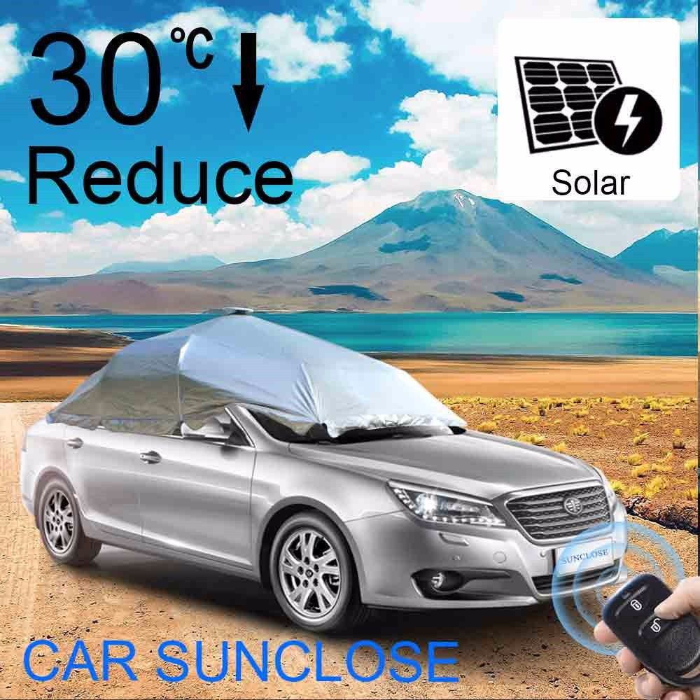 SUNCLOSE Factory magnetic car front window cover top quality hat girls sex picture sun umbrella windows protect rain car cover