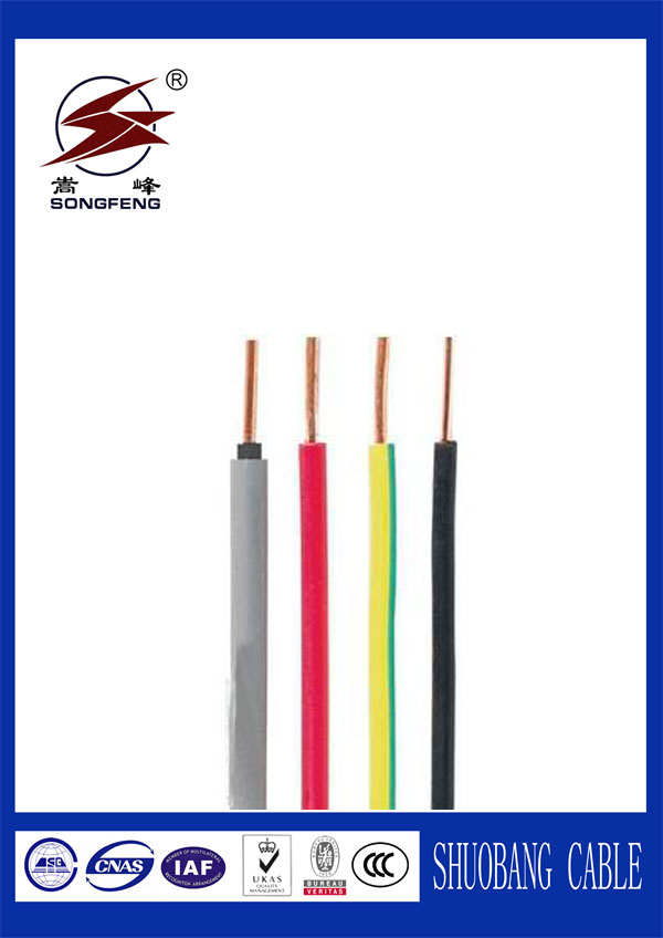 PVC insulation copper conductor house wiring electrical cable