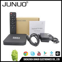 2016 Cheapest JUNUO Best Smart TV BOX Android 6.0 amlogic s905x web tv box