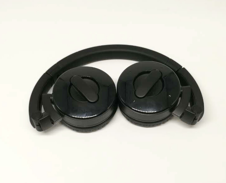 Original OEM Foldable Bluetooth Headset wireless Earphone PC91 with Black Rubber material for Iphone,pc table and smartphone