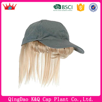 2016 New arriveal heigh quality baseball cap with hair