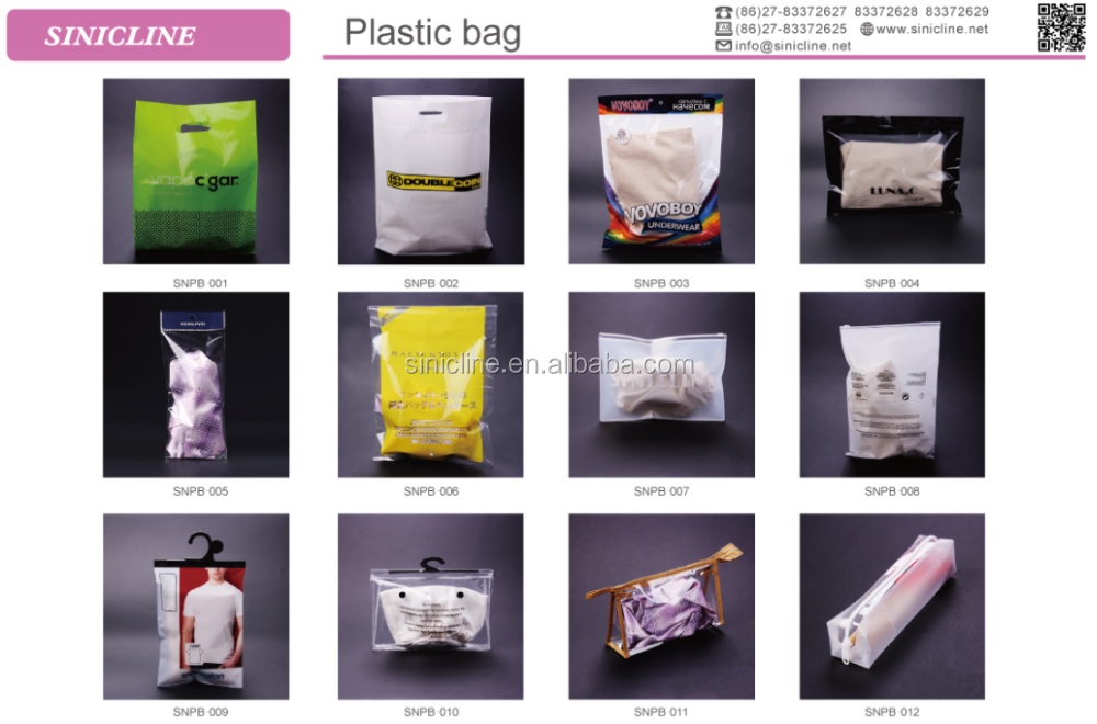 Sinicline 2016 new arrival customized quality eva plastic zip lock bags swimwear packaging