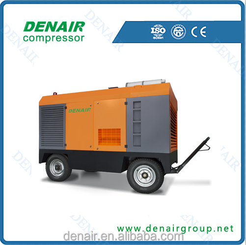 Diesel mobile industrial screw air compressor quality equal to atlas copco