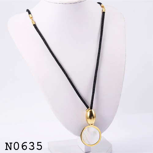 Touhlove new arrival white ceramics stainless steel wire pendent necklace for young girls