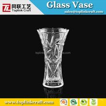 high quality transparent white wedding vase