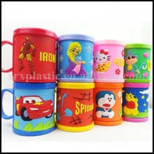 10oz Wholesale unique Plastic Rubber Kid Coffee Personalized Mug manufacturer/OEM custom print logo plastic gargle mug wholesale