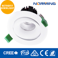 Dimmable Led Downlight 9W Recessed COB LED Downlight 9W High Power LED Gimbal Down Lights