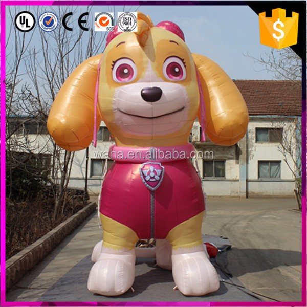 custom made pink color lovely advertising inflatable dog