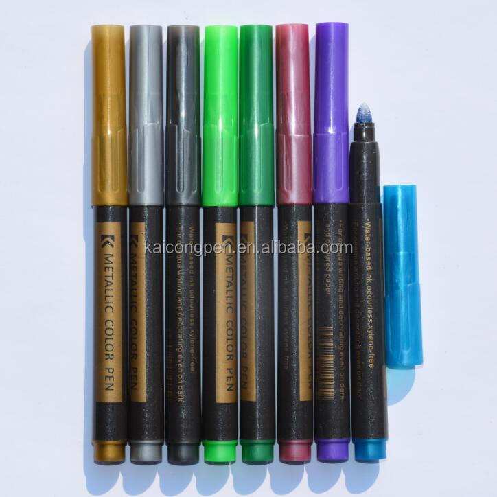 KAICONG Colorful Signature Water-based Metallic Marker for dark paper KC-863