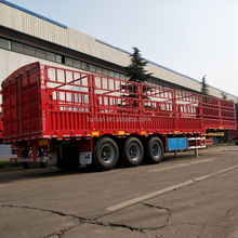 fence semi trailer hydraulic axle trailers for transportation of cargo/box/spareparts/poultry/livestock