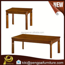 new modern wooden long and short coffee table with solid wood legs