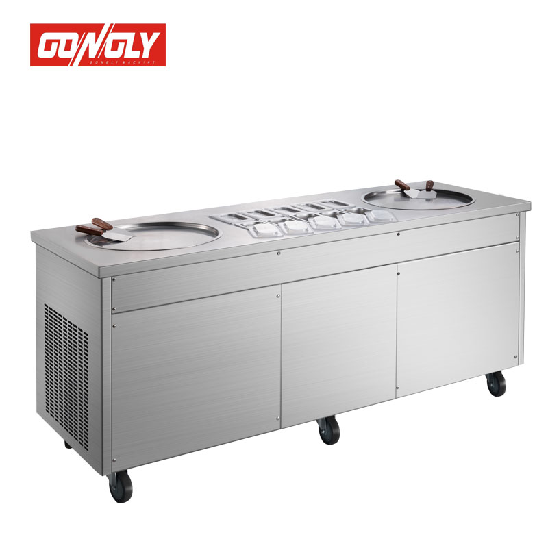 High quality Fried ice cream machine can make Roll fry ice cream