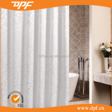 High standard waterproof hotel shower curtain with 12 rings