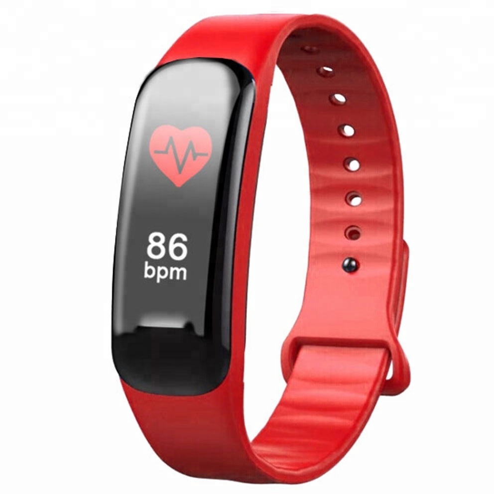 <strong>C1</strong> PLUS Smart Band 0.96 Inch Color Large Screen Blood Pressure Oxygen Smart Bracelet Fitness Tracker Heart Rate Wristband