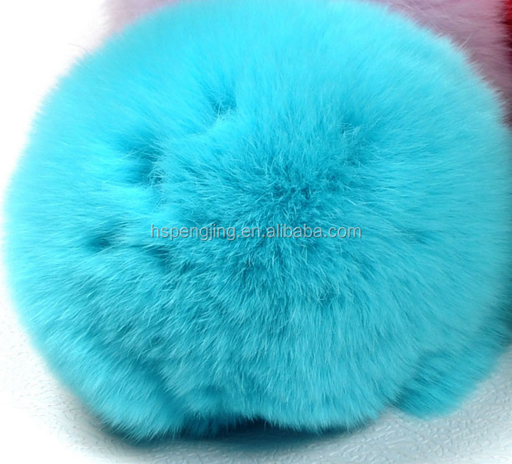 Wholesale Genuine Rabbit Ball Fur Keychain