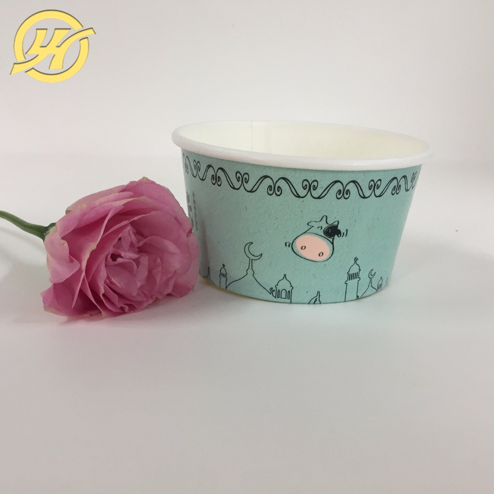 Wholesale disposable OEM ice cream cups with lids/dessert cups/ice cream tubs