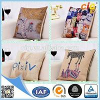 Promotion Colorful Printing stuffed plush letter pillow