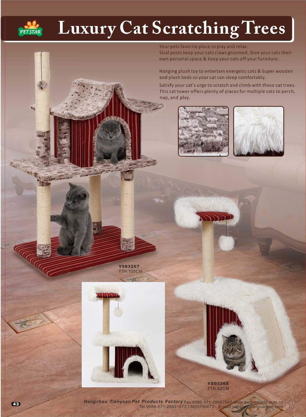 2017 New Design Pet Product,Climbing Sisal Cat Tree