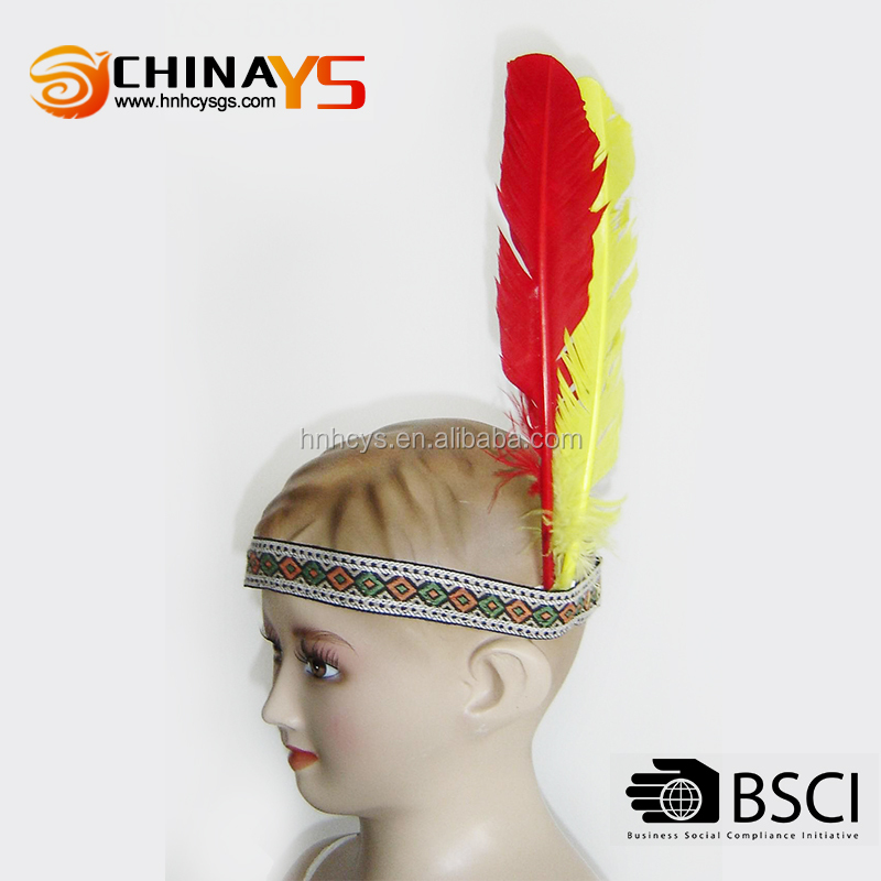 New Arrival Wholesale Products feather kids hair accessories for head accessories