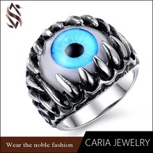 New products 2015 gay men ring,fashion turkey blue eye jewelry men gay ring