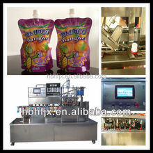 automatic soy bean milk with stand up pouch filling capping machine mango juice fill machine