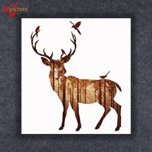 Led Paintings Horse Elk Oil Painting On Canvas Printed Printing For Hotel/Home