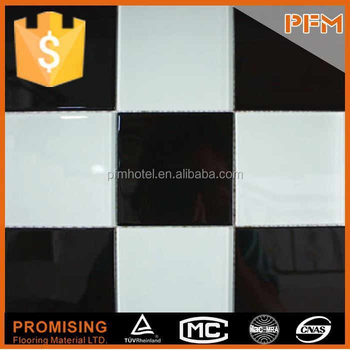 home decoration white mosaic self adhesive glass tile