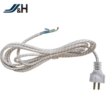 VDE Approved H03RT-H Textile Braiding Power Cord