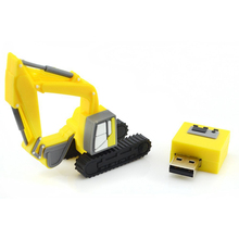 Excavator yellow USB Stick 8 GB memory USB Flash Drive