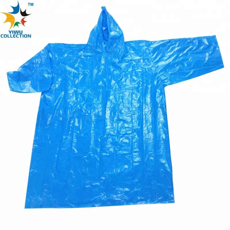 disposable plastic PVC raincoat
