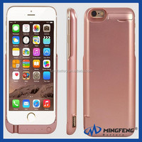 Rechargeable Case with LED Instruction For iphone 6 6500mAh External Battery Case Portable Charger Battery Back Up Power Bank